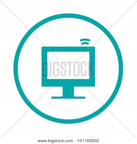 Information Technology - Button - This Image Is A File Representing A Computer Monitor Displa