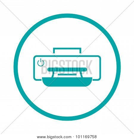 Printer Concept Icon. Stock Illustration Flat Design Icon.