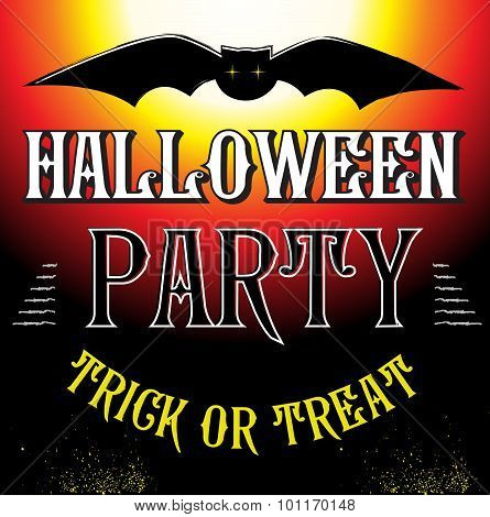 Halloween Party Design template poster