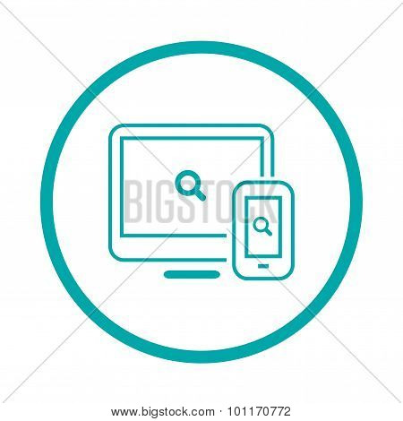 Web & Apps - Button - Abstract Flat Illustration Of Web Design And Development Elements For