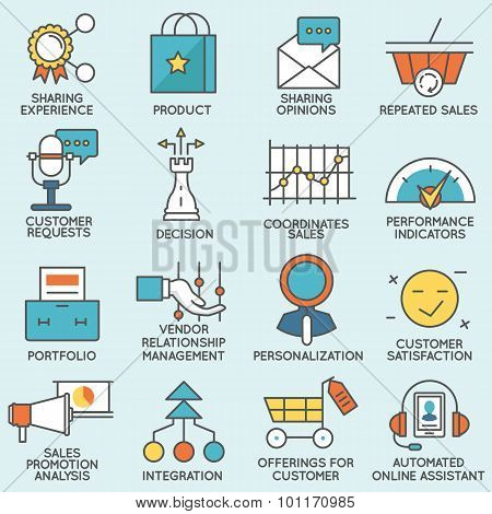 Customer Relationship Management Icons - part 4