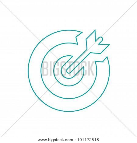 Target - Button - Stock Illustration - Target Market Concept Icon - Target Icon