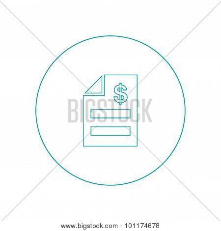 Invoice Concept. Bill Icon.