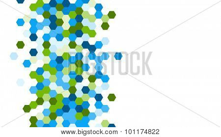 Grainy pattern composed of hexagones. Honeycomb vector background.