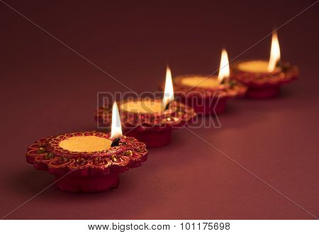 beautiful diwali diya, Diwali Oil Lamp