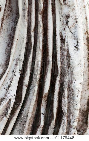 Detail Of A Drape Ancient Vestal Marble