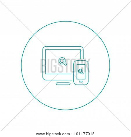 Web & Apps - Vector - Button - Abstract Flat Illustration Of Web Design And Development Elements For
