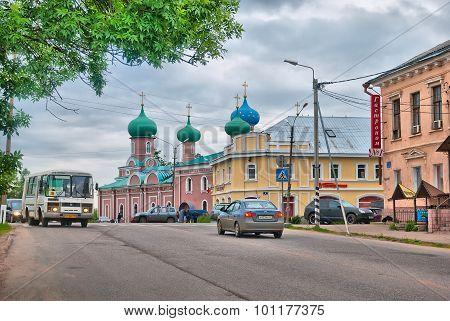 Tikhvin. Russia. Karl Marx Street