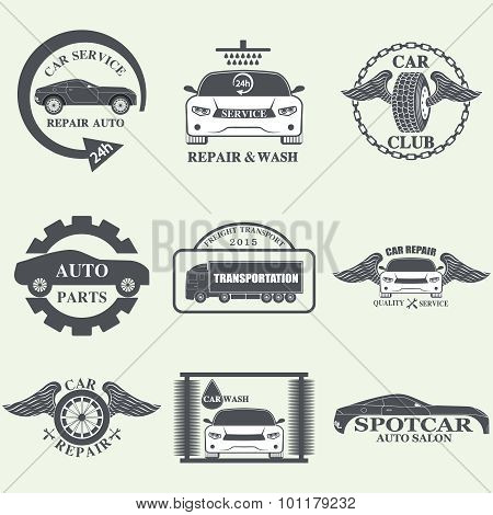 car service labels