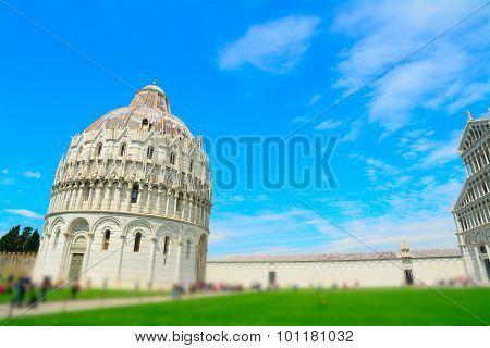 Piazza Dei Miracoli In Tilt Shift Effect