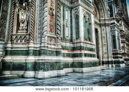 Santa Maria Del Fiore Facade In Hdr