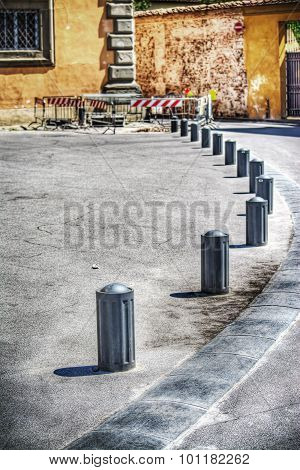 Pedestrian Footpath With Metal Boundary In Pisa