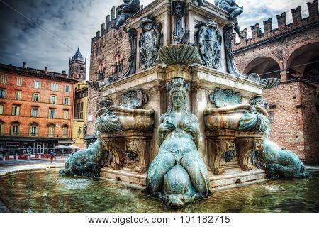Lower Part Of Triton Statue In Bologna