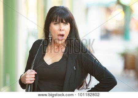 Surprised Woman On Street
