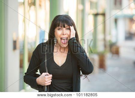 Surprised Female On Street