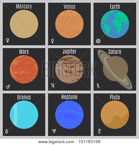Planets Vector Set