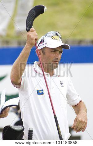 PARIS FRANCE, 02 JULY 2009. Markus Brier (AUT) competing in the 1st round of the PGA European Tour Open de France golf tournament.