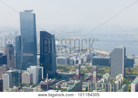Seoul, Korea - April 24, 2015: Aerial View Of Seoul
