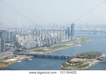 Seoul, Korea - April 24, 2015: View Of Seoul From 63 Building