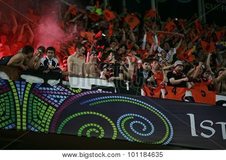 ISTANBUL, TURKEY. 20 MAY 2009. The UEFA Cup Final played in the Sukru Saracolu Stadium, between Werder Bremen from Germany and Shakhtar Donetsk from Ukraine.