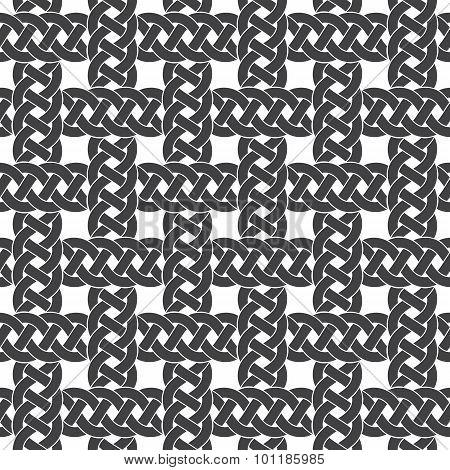 Seamless pattern of intersecting braids