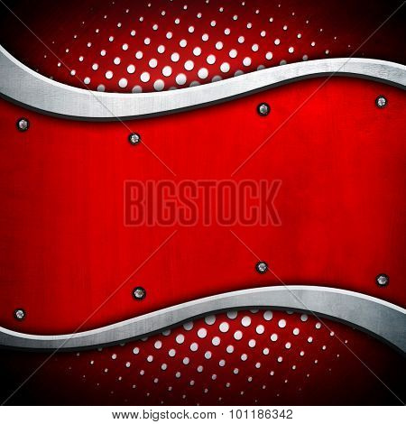 abstract metal with curve pattern