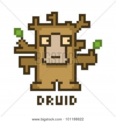 Pixel druid for 8-bit video games