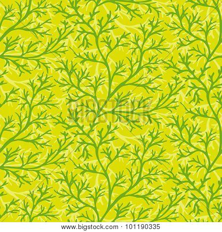 Green dill seamless pattern