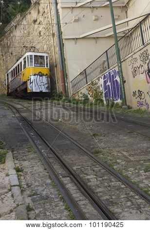 Lisbon Lavra Cable Car