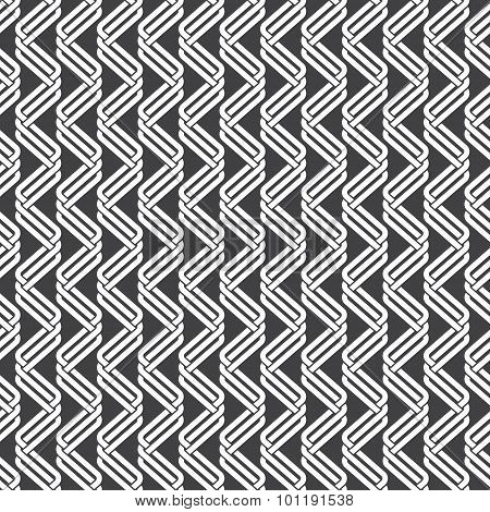 Seamless pattern of parallel intersecting waves