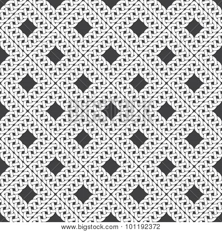Seamless pattern of braided frames
