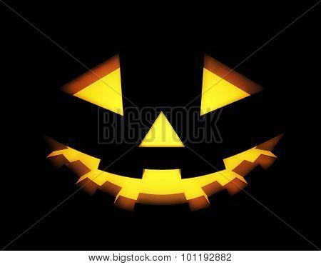 Halloween background with pumpkins lantern