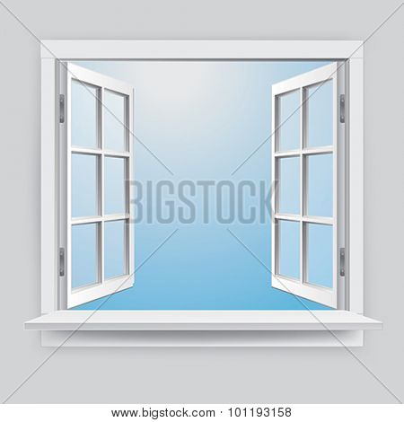 Realistic Vector window with Glass effect