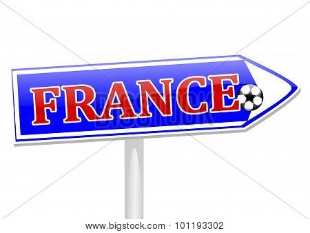 The Arrow With The Inscription France