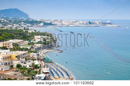 Landscape With Beach Of Forio Town, Ischia