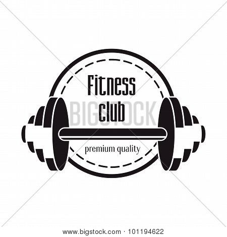 Fitness Club Logo Design Concept With Barbell