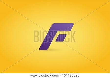 Fast line logo F monogram icon