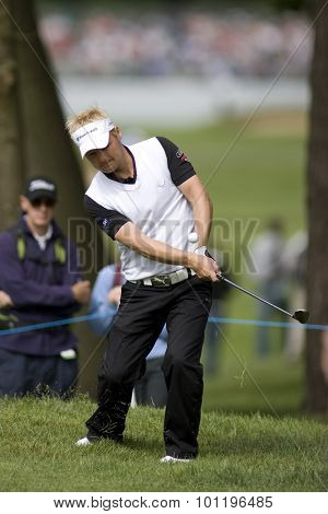 WENTWORTH, ENGLAND. 22 MAY 2009.S���¿ren KJELDSEN DEN  playing in the 2nd round of the European Tour BMW PGA Championship.