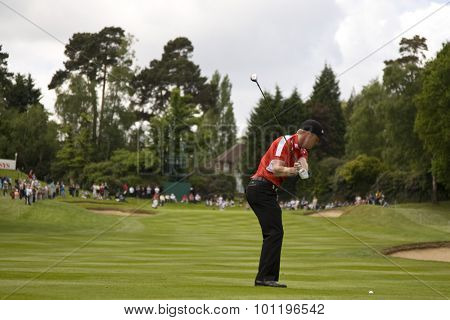 WENTWORTH, ENGLAND. 22 MAY 2009.David Horsey (GBR) playing in the 2nd round of the European Tour BMW PGA Championship.