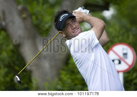 WENTWORTH, ENGLAND. 21 MAY 2009.Nick DOUGHERTY ENG playing in the European Tour BMW PGA Championship.