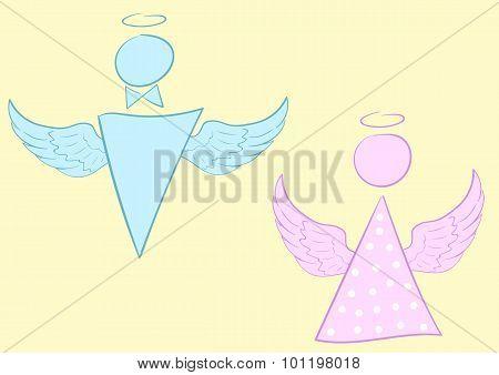 Male and female angel