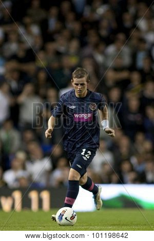 LONDON ENGLAND 25 August 2011. Hearts player David Templeton in action during the UEFA Europa league match between Tottenham Hotspurs  from England and Heart of Midlothian  from Scotland.