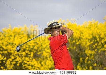 PARIS FRANCE, 04 JULY 2009. Alvaro Quiros (ESP) competing in the 3rd round of the PGA European Tour Open de France golf tournament.