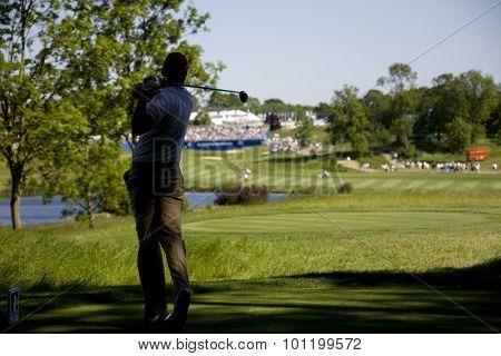 KENT ENGLAND, 30 MAY 2009. Alvaro QUIROS (ESP) playing in the third round of the European Tour European Open golf tournament.