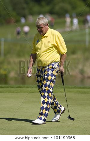 KENT ENGLAND, 29 MAY 2009. John DALY (USA) playing in the second round of the European Tour European Open golf tournament.