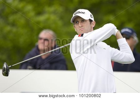 KENT ENGLAND, 27 MAY 2009. Gregory BOURDY (FRA) playing in the first round of the European Tour European Open golf tournament.