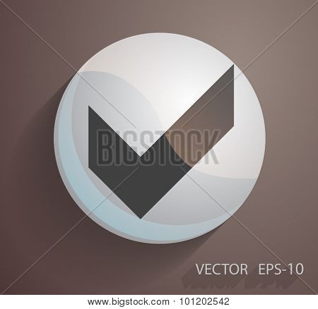 Flat icon of check box