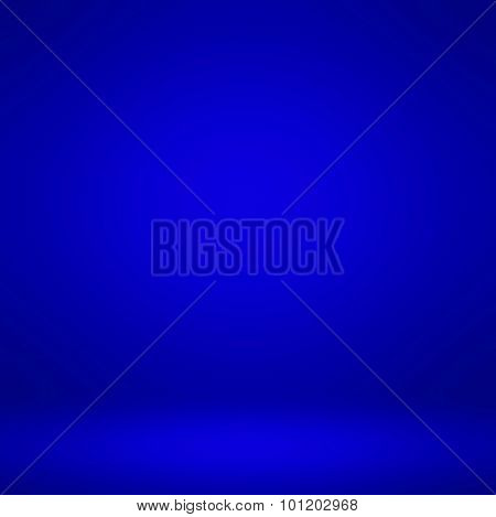 Abstract illustration background texture of dark and light clear blue, azure, cyan, violet, purple and indigo gradient flat wall and floor in empty spacious room interior
