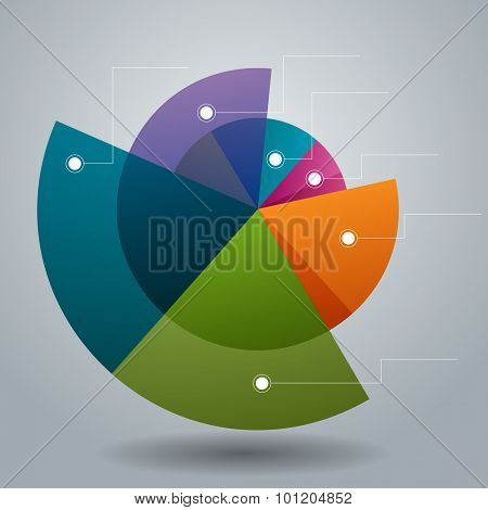 An image of a business pie circle chart icon.