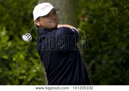 WENTWORTH, ENGLAND. 21 MAY 2009.Paul LAWRIE SCO  playing in the European Tour BMW PGA Championship.